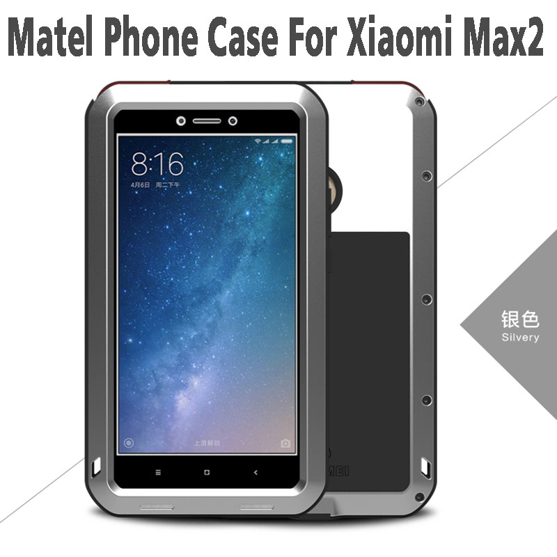 Xiaomi Max 2 Case Love Mei Life Waterproof Shockproof Aluminum Metal Case +Tempered Glass For Xiaomi Mi Max 2