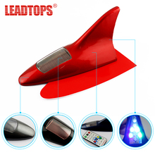 LEADTOP 10 Led New Type Auto Car Solar Powered LED Flashing Shark Fin Warning Tail Lights Controller Universal Aerial Antenna Bj(China)