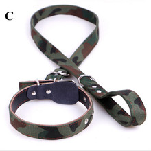 High Quality  Nylon+PU Dog Leashes Pet Traction Rope Collar Set For Pets Army Green Multicolors