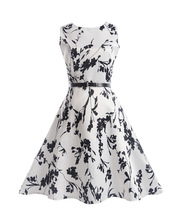 DNSDFS 2017 New Mother & Daughter Dresses Children's Clothing Girl Sleeveless Printed Fashion Princess Family Fitted Dress