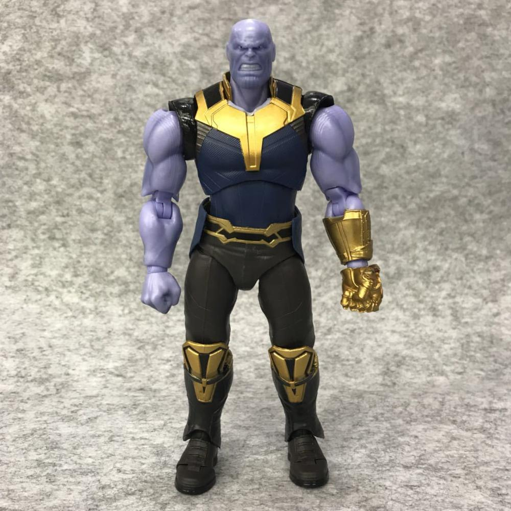 Avengers Infinity War Thanos Figure PVC Avengers Marvel Action Figures Thanos Toys Lighting Collectible Model Toy for children (10)