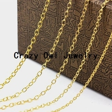 7mm*8mm Silver Gold Bronze Rhodium 10Meter/lot Oval Open Link Cable Necklace Chains Bulk Iron Jewelry Chain Lots Y1117