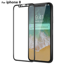 4D Glass 9H 3D Screen Film for Apple iPhone X Glass Case Cover Coque Capinhas Tempered Glass for iphone X Screen Protector(China)