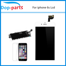 For iphone 6S LCD Display OEM Free Tempered glass LCD Display Touch Screen Digitizer + Home Button +Front Camera Assembly
