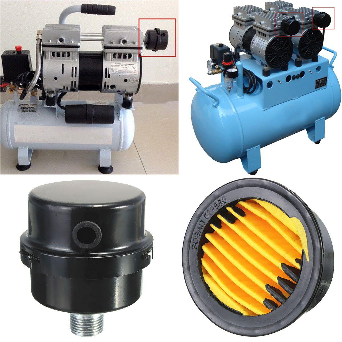 16mm Black Air Filter Filter Silencer Muffler Air Compressor Pneumatic Supply AL