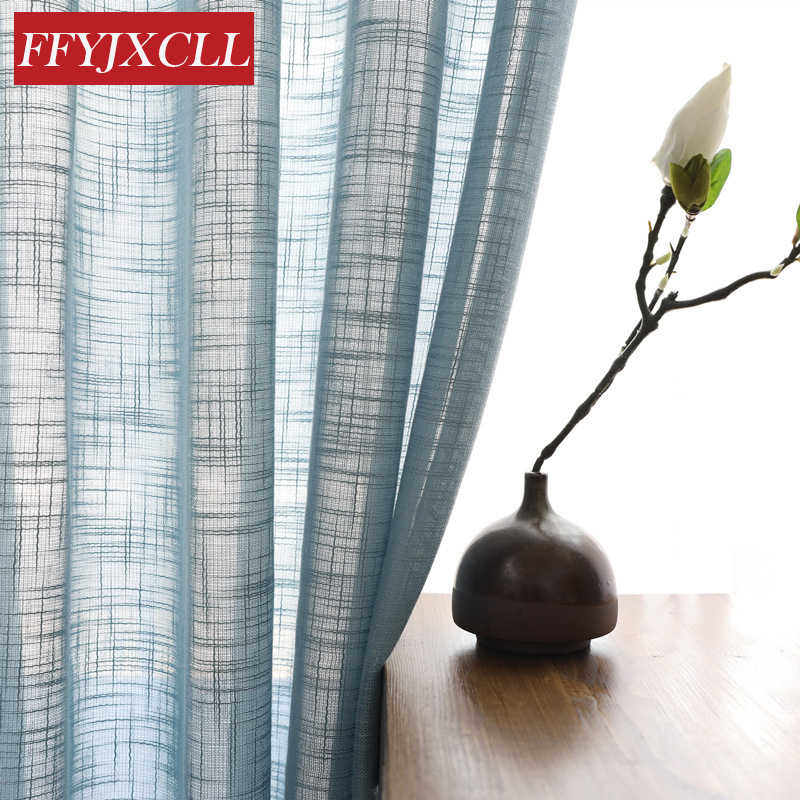 5 Color Tulle for Living Room Bedroom Kitchen Cafe Drapes Home Decor Window Screening Linen Sheer Curtains White  Modern