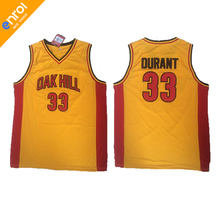 Men Cheap Kevin Durant Basketball Jerseys 33# Oak Hill High School Throwback Stitched Embroidery Retro High Quality Shirts(China)