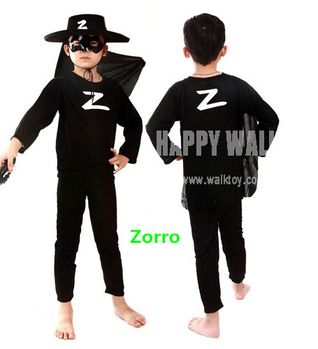 Easter Spring Gift Funny Party Zorro Costume For Cool Children Cosplay Costume The Avenger Costume Birthday Gift  For Kid<br><br>Aliexpress