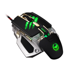 New Laser Mouse USB Computer mouse Gaming Mouse with 7 Color Breathing Light 4000DPI 4speed Transmissionf for Gamer