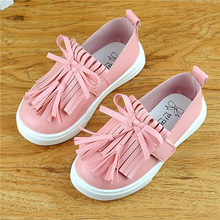 Kids Leisure shoes children sneakers flat Running shoes  baby boys Board shoes sneakers girls bow-knot tassel sneakers 21-30