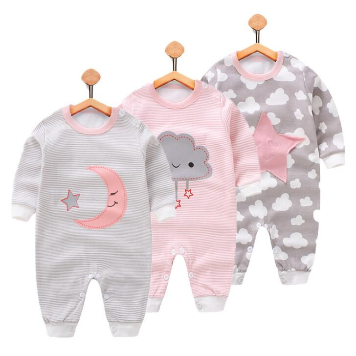 Newborn Baby Rompers Baby Girls Boys Clothes Cute Print Infant Boy Girl Rompers Spring Autumn Roupas Bebe Clothing Jumpsuit