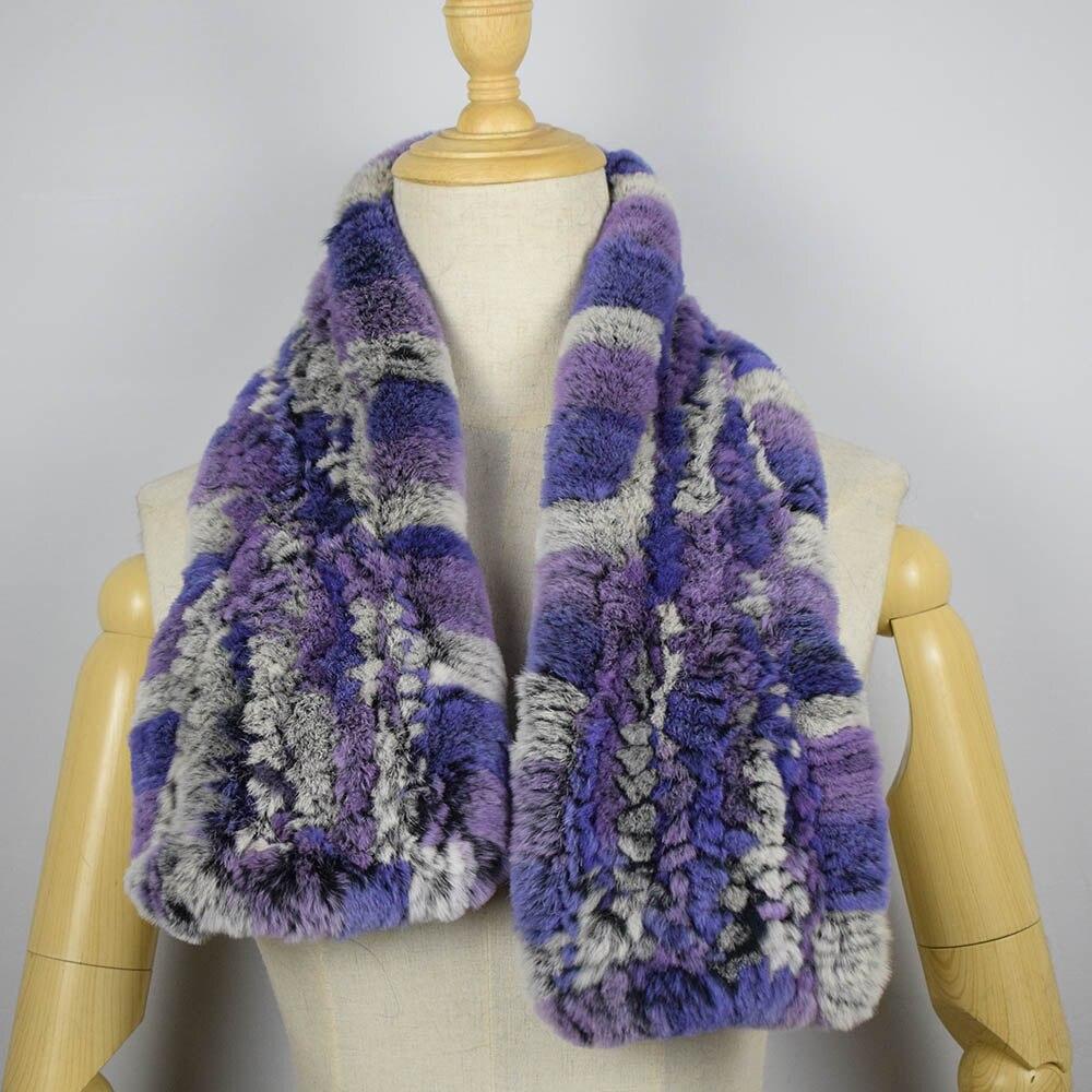rex rabbit fur scarf short 9