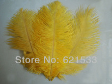 Wholesale!100PCS/LOT 6-8''/15-20cm Gold Ostrich FEATHERS Bridal/Wedding/Centerpiece freeshipping(China)