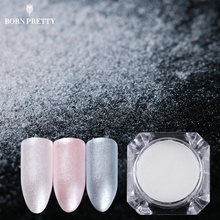 BORN PRETTY 1.5g Diamond Pearl Nail Art Glitter Powder Mermaid Powder Shining White Pigment DIY Nail Decorations