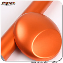 Buy wholesale 1.52x20m RoHS air bubbles free Matte Chrome Vinyl matte pearl film orange color vinyl wraps cars for $98.10 in AliExpress store