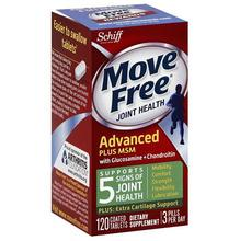 Move Free Joint Health, Glucosamine Chondroitin Advanced Plus MSM, Dietary Supplement, 1500 mg,120 Count lucosamine
