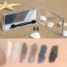 Fashion Safe Baked Eyeshadow Warm 6 Color Pigment Eye Shadow Palette Shimmer
