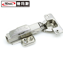 HBS01A 50pcs SS304 Full Overlay Hydraulic Brass Buffer Nickel Furniture Kitchen Cabinet Gate Hinge