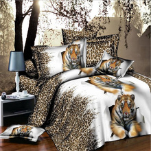 3D Animals Flowers  Bedclothes Quilt / Duvet Cover Sets Double Bed 4pcs / Fashion Bedding Set King / Queen Size HBS064