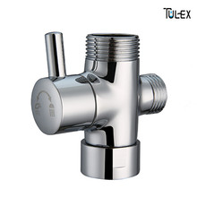 Faucet Shower Diverter 3 Way Shower Arm Diverter 2 Functions Shower Faucet Valve for Shower Mixer Brass Body Chrome Plated(China)