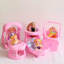 5PCS/SET The Cute Bathtub For Barbie Fashion 1:6 Doll And Accessories Kelly Dolls Furniture
