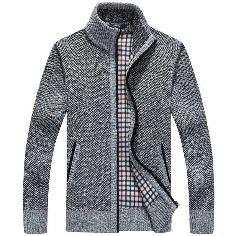 Mens Sweaters Kintted Coat High Neck Jacket Knitwear Fashion Loose Winter New SZ