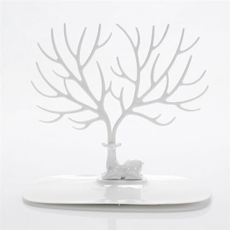 Deer shape Jewelry Display Stand ABS Plastic Holder Fashion Tree Shelf Stand Holder for Earrings Necklace Ring