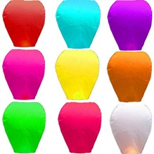 New 10pcs Chinese kongming Lantern Wish Flying Lanterns Multicolor Paper Lantern Balloon Birthday Wedding Party Decoration(China)