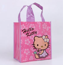 Shopping bag Gift bag Hello Kitty cartoon handbag bag for present packing non-woven fabric material