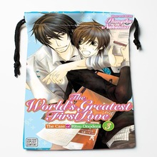 Best World's first love Slash Anime Drawstring Bags Custom Storage Printed Receive Bag Type Bags Size 18X22cm Storage Bags