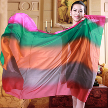 [BYSIFA] Autumn Pure Silk Scarf Shawl Women Gradient Color Mulberry Silk Oversized Lengthen Scarf Wraps New Brand Female Cape(China)