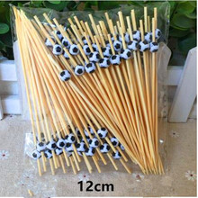 100Pcs New 12cm football shaped  fruit  toothpick interesting Cake decoration cocktail sign wedding decorative party supplies