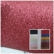 NEW! Glitter Metallic color foil Grind arenaceous PVC synthetic leather fabric 20 color Suitable for decorative bag(China)