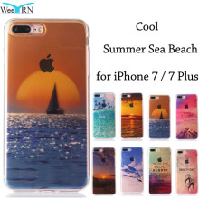 Cool Summer Beach Sea Cases for iPhone 7 7 Plus Funda Coque Silicon Protective Soft Back Case Cover for iPhone 7