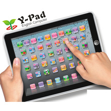 Y-pad Ypad English Computer Table educational electronic Learning toys with music and light,Black,Blue,PINK 3 Color(China)