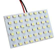 Universal Car Dome Panel LED Lights Automobile Interior Reading Bulbs Lamps 48 LED SMD 1210  Festoon T10 Socket BA9S Car Styling