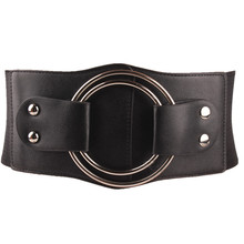 Buy PU Leather Corset Wide Waist Belt Brede Riem Dames Wide Elastic Belts Metallica Cinta Liga Metal Ring Cintos Femininos De Grife for $9.99 in AliExpress store