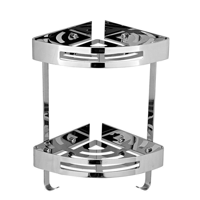 Modern 304 Stainless Steel Bathroom Shelf Chrome Polished Triangular Plate Storage Rack Corner Shower Basket g689<br><br>Aliexpress