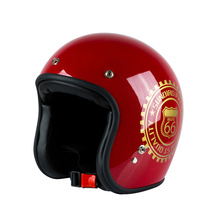 VCOROS retro motocycle helmet individuality vintage motorbike helmet 3/4 open face Vespa scooter moto racing(China)