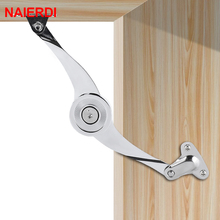 NAIERDI Hydraulic Randomly Stop Hinges Kitchen Cabinet Door Adjustable Polish Hinge Furniture Lift Up Flap Stay Support Hardware(China)