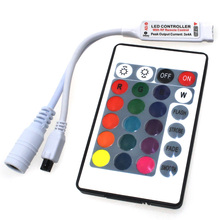 24 Keys IR RGB Mini Remote Controller DC12V Controller For SMD3528/5050/3014 LED RGB Strip Lights Mini Controller (C7)