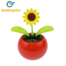 LeadingStar Solar Toy Mini Dancing Flower Sunflower Great as Gift or Decoration Ship in Random Color zk25(China)