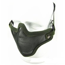 Air soft Steel Metal Mesh Half Face Mask Comfortable Tactical Protective Strike Paintball 2017 Newest Style(China)