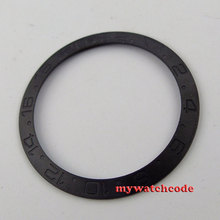 brushed black ceramic bezel insert for 40mm GMT watch made by parnis factory B18