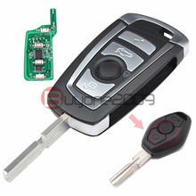 EWS Modified Flip Remote Key 4 Button 315MHz/433MHz PCF7935AA ID44 Chip for BMW E38 E39 E46 M5 X3 X5 Z3 Z4 HU58(China)