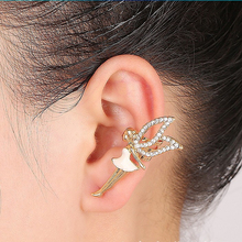 Crystal Earring Leaves Ear Cuff Clip Earings Dancing girl Angel Wings For Women wihout Pierced High Quality Fashion Jewelry