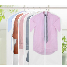 5pcs Zipped Suit Cover Transparent Dustproof PEVA Clothes Garment Dustproof Storage Bags Cover Clothes Dress Protector
