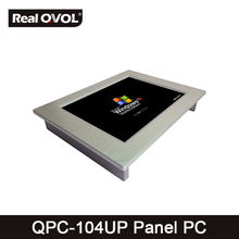 QPC-104UP Panel touch PC industrial computer fanless Intel 1037U 1.8GHz CPU, 32GB SSD with VGA HDMI port & 4 Serial Port,2 LAN(China)