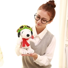 Classic Cartoon Pilot Snoopie Plush Doll Stuffed Animals Toys Birthday Gift For Children