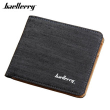 With Zipper Men Wallets Famous Brand PU Leather Male Money Purses New Classic Soild Pattern Designer Canvas Soft ID Card Case(China)